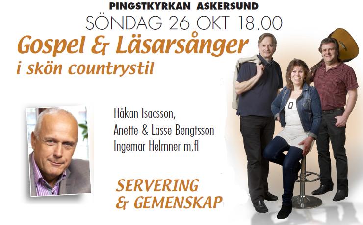 Gospel och Läsarsånger 26 oktober 2014